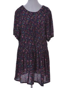 Vintage Beyond Retro Label Short Dress Multi-colour With Back Tie | Beyond Retro