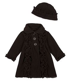 Starting Out Infant Double Front-Ruffle Coat