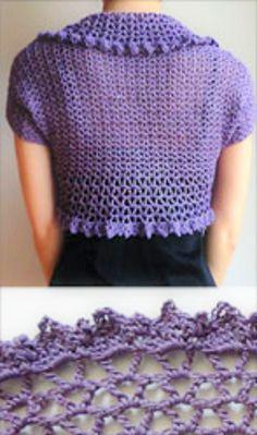 Crochet Pattern: V Lace Shrug