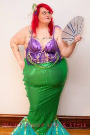 Mermaid costume!! Thrifted, crafted, plus-size costumes available ...