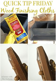 Quick Tip Friday using Wood Finishing Cloths from At Home with The Barkers