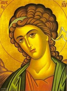 Angels according to Orthodox tradition - what they do, how they were created, how many types of angels there are, how some fell, their role in spiritual life - Byzantine Icons, Byzantine Art, Religious Icons, Religious Art, Types Of Angels, Greek Icons, Religion Catolica, Archangel Gabriel, Russian Icons