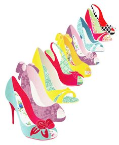 Never enough... Funky Shoes Art Print A4 by lauraamiss on Etsy