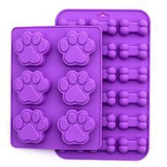Puppy Dog Paw and Bone Silicone Mold, 2 Pack Set Sweet Co. Homemade Dog Treats, Pet Treats, Silicone Chocolate Molds, Silicone Molds, Candy Making, Soap Making, Dragon Cookies, Sweet Cookies, Handmade Soaps