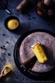 Gluten free, ultra soft sponge cake with corn flour, lemon and allspice