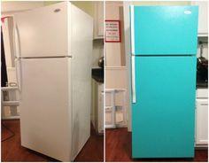 Hűtő festése házilag - Megmutatjuk, hogyan csináld! - DIY-cikkek - Kreatív Old Furniture, Top Freezer Refrigerator, Cozy House, Diy And Crafts, Kitchen Appliances, Reuse, Home Decor, Creative, Diy Kitchen Appliances
