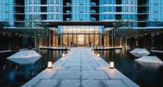 Minimalist song rhyme, the perfect interpretation of contemporary Chinese landscape mood [Global Design - Global Design - WeChat public number article Landscape Architecture, Landscape Design, Chinese Landscape, Water Element, Pool Water, Global Design, Landscape Lighting, Pathways, Water Features
