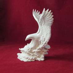 Ready to paint Fishing Eagle- 10 3/4 inches tall-  indoor, outdoor, lawn or garden, DIY by aarceramics on Etsy