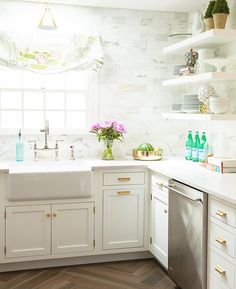 Light, bright and airy kitchen by Caitlin Wilson Design.