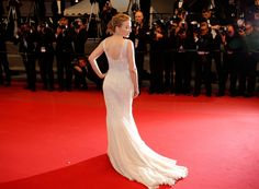 Singer Kylie Minogue arrives on the red carpet for the screening of The Great Beauty at the 66th international film festival, in Cannes, southern France, Tuesday, May 21, 2013. (AP / Lionel Cironneau)