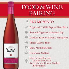 Food & Wine Pairing - Red Moscato | Sutter Home