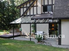 Patio Cover idea- aluminum patio cover kit,glass awning Patio Covers - Do It Yourself Aluminum Patio Cover Kits, Aluminum Awnings, Patio Shade, Glass Awning Kits Pergola With Roof, Patio Roof, Back Patio, Pergola Plans, Diy Pergola, Pergola Kits, Small Patio, Awning Patio, Diy Patio