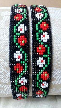 Bracelet Crochet, Bead Loom Bracelets, Beaded Bracelet Patterns, Bead Loom Patterns, Beading Patterns, Bead Jewellery, Beaded Jewelry, Cross Stitch Letter Patterns, Loom Beading