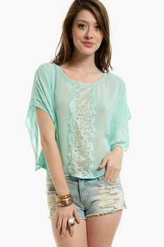 By a Thread Lacey Top $38 at www.tobi.com