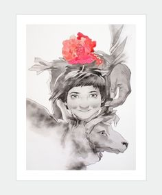 Little Afghan Girl And Sheep by MaiArt's artist Chan Shun Hong  Available: http://www.maiart.hk/shun-hong-chan/little-afghan-girl-and-sheep-art-print--310gsm-hahnemhle-fine-art-paper
