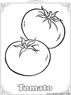 Vegetable Coloring Pages | Kids Under 7: Vegetables Coloring Pages