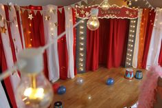 i think it would be really cool to create a awesome entrance into the gym to get the kids excited! Then just something behind each food area. Creepy Carnival, Circus Carnival Party, Circus Theme Party, Circus Wedding, Carnival Birthday Parties, Halloween Carnival, Circus Birthday, Birthday Party Themes, Vintage Carnival