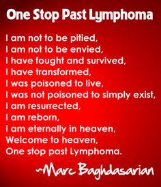 One Stop Past Lymphoma by Marc Baghdasarian Burkitt's Lymphoma, Bone Marrow, Stem Cells, True Stories, Envy, Cancer, Survival, Health, Strength