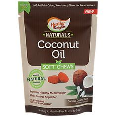 Coconut Oil 500 MG - COCONUT CARAMEL (30 Soft Chews)  by Healthy Delights Naturals at the Vitamin Shoppe