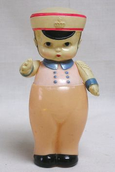 Vintage Occupied Japan Lge. Celluloid Sailor Boy Doll w Moveable Arms NICE!