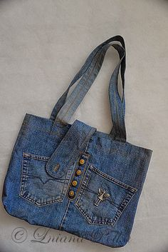 Old jeans recycle bag