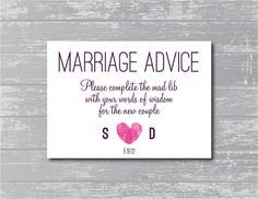 Modern Marriage Advice Sign 5x7 DIY Wedding Sign by CreativePapier, $5.00
