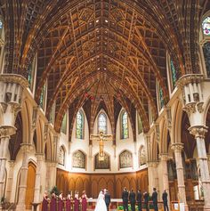 Wherever and however you get married. Make it epic! #epic #wedding #chicago #instachicago #weddingphotos #church #wood #cathedral by petergubernat