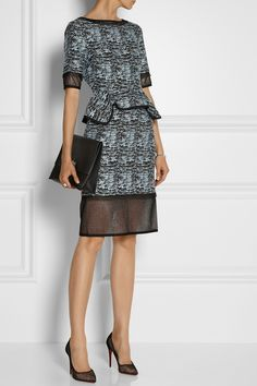 Jonathan Simkhai | Cotton-blend jacquard peplum dress
