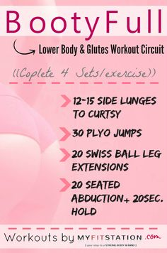 BootyFull Circuit – Lower Body and Glutes Workout !