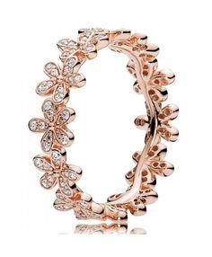 Pandora Rose Gold Dazzling Daisy Ring