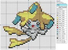Jirachi | pokemon cross stitch pattern