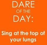 Singing for at least 10 minutes daily reduces stress, clears sinuses, improves posture and can even help you live longer.  So this I want to hear: -)  Happy Tuesday!