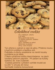 Čokoládové cookies Christmas Candy, Christmas Baking, No Bake Cake, Biscotti, Nutella, Sweet Recipes, Food And Drink, Sweets, Homemade