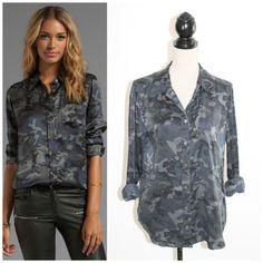 Equipment Femme Underground Black Gray Camo Brett Silk Button Down Blouse L #EQUIPMENT #Blouse #Casual - career blouses, blue floral blouse, satin blouse *sponsored https://www.pinterest.com/blouses_blouse/ https://www.pinterest.com/explore/blouses/ https://www.pinterest.com/blouses_blouse/white-lace-blouse/ http://www.target.com/c/shirts-blouses-tops-women-s-clothing/-/N-4y2xt