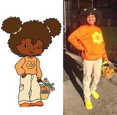 She took my coustume! She took my coustume! Black Girl Halloween Costume, Cartoon Halloween Costumes, Cute Halloween Costumes, Couple Halloween, Halloween Inspo, Halloween Cosplay, Girl Costumes, Cosplay Costumes, 90s Costume