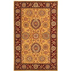 @Overstock - Masterfully designed rug will instantly transform your home into an elegant abodeTraditional rug features an intricate floral design in rich shades of gold, red, rose, green, blue, and burgundy Runner rug is handmade of fine wool and silkhttp://www.overstock.com/Home-Garden/Handmade-Ancestry-Gold-Burgundy-Wool-and-Silk-Rug-5-x-8/3411099/product.html?CID=214117 $274.99