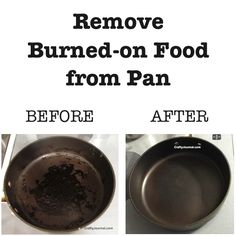 Easy Way to Remove Burned-on Food from a Pan by Crafty Journal