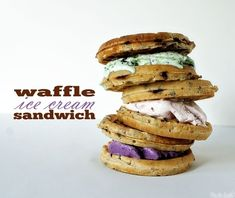 Waffle Ice Cream Sandwich: 22 ice cream sandwiches that will make you drool!