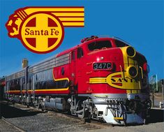 There was a train track behind our house...I loved going to sleep at night watching trains go by...Santa Fe The Chief Railroad Train Metal Sign.