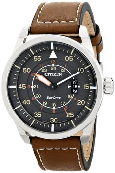 Stainless Steel Watch with Brown Leather Band: Citizen: Clothing http://www.amazon.com/gp/product/B00KCF7JL6/ref=as_li_tl?ie=UTF8&camp=1789&creative=9325&creativeASIN=B00KCF7JL6&linkCode=as2&tag=wwwpintere04b-20&linkId=QTNABTZOKQHJ4PYF