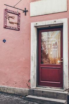 Door in Tallinn, Estonia