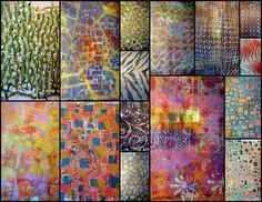 Carol DeeZigns Gelli Arts printing plate