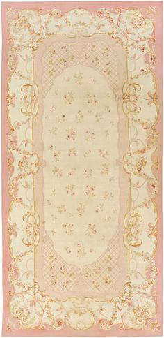 Antique Aubusson Carpet...would love one in every room. So pretty!