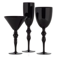 Id pull in black and blue with gold accents all through.  The flight bar. Onyx Stemware - Sets of 4 from Z Gallerie