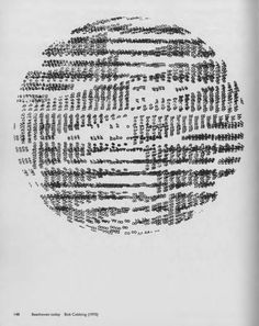"""text-mode:  Beethoven today, Bob Cobbing (1970).From the book """"Typewriter Art"""" (1975), edited by Alan Riddell."""