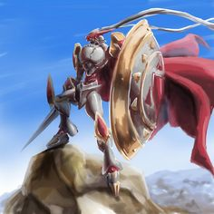 amazing cape clothing day digimon dukemon gallantmon holding_object holding_weapon lance_(weapon) male melee_weapon outside polearm rock shield sky solo speedpaint step_pose unknown_artist weapon Lance Weapon, Blue Sky Images, Digimon Frontier, Digimon Tamers, Pokemon, Digimon Digital Monsters, Digimon Adventure Tri, Character Wallpaper, Creature Design