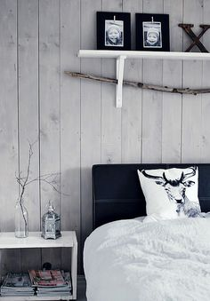 my scandinavian home: Bedroom Nordic Bedroom, Cosy Bedroom, Bedroom Decor, White Bedroom, Lodge Bedroom, Bedroom Ideas, Bedroom Bed, Bedroom Designs, Peaceful Bedroom