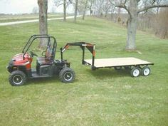 """Determine more information on """"atv towing capacity"""". Take a look at our web site. Lawn Tractor Trailer, Log Trailer, Trailer Ramps, Trailer Plans, Trailer Build, Utility Trailer, Enclosed Trailer Camper, Off Road Camper Trailer, Utv Trailers"""