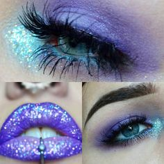 """""""Wow makeup BY @lilacbat @lilacbat @lilacbat  USING MINTY MOJITO AND PRETTY LILAC LIAR .... LOVEE IT GIRL An out of focus closeup of today's glitter lip.…"""""""