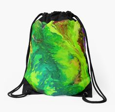 'Contemporary abstract modern painting' Drawstring Bag by JuliaFineArt Free Canvas, Preserve, Woven Fabric, Contemporary, Modern, Duvet Covers, Hand Painted, Canvas Prints